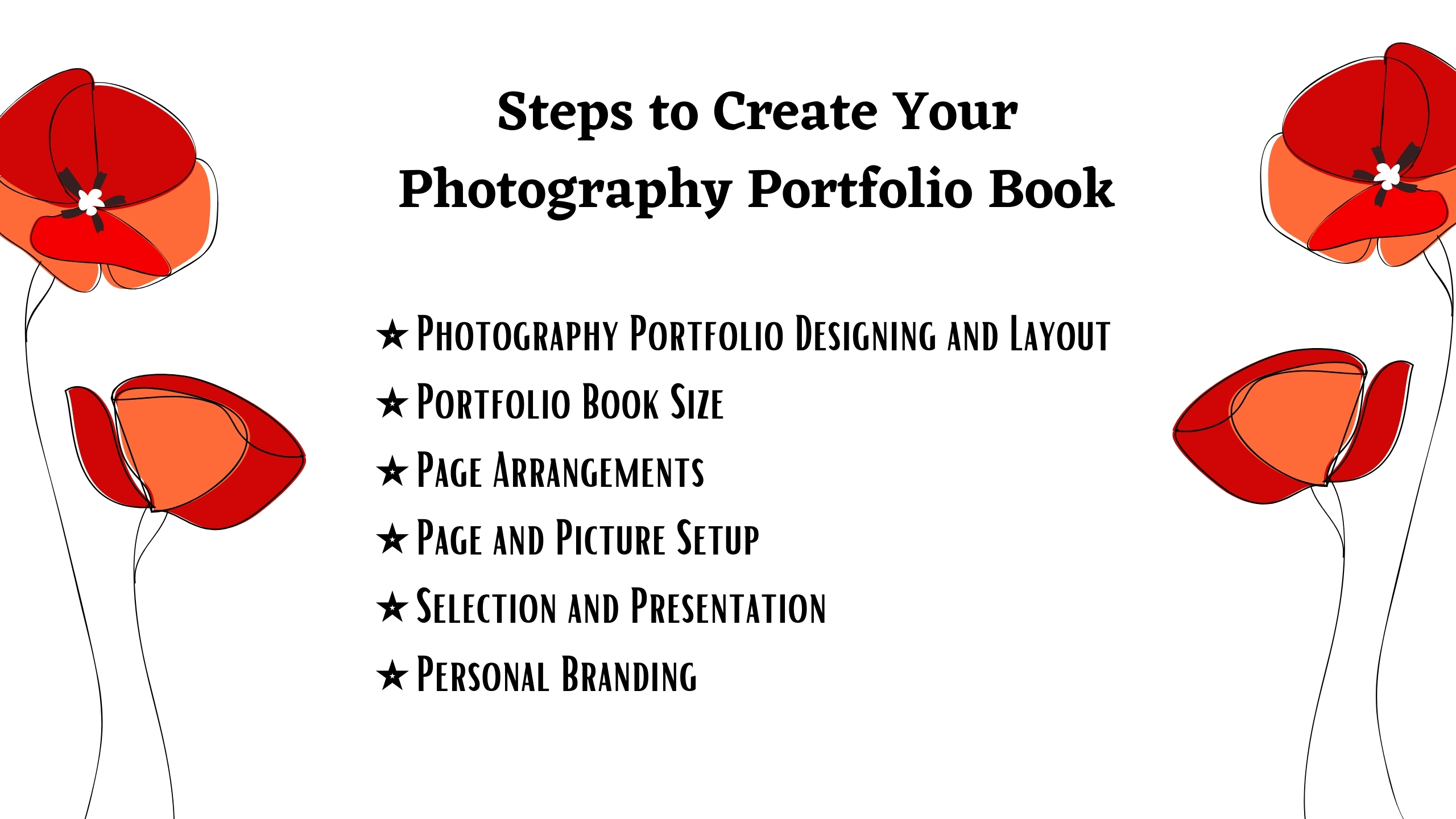 Steps to Create a Photography Portfolio Book